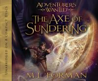 Cover image for The axe of sundering. bk. 5 [sound recording CD] : Adventurers wanted series