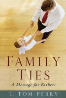 Cover image for Family ties : a message for fathers