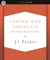 Cover image for Taking God seriously