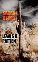 Cover image for Savage desert [large print] : a western duo
