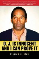 Cover image for O.J. is innocent and I can prove it! : the shocking truth about the murders of Nicole Brown Simpson and Ron Goldman