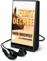 Cover image for First degree. bk. 2 Andy Carpenter series