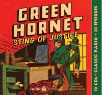 Cover image for Green Hornet [sound recording CD] : Sting of justice.