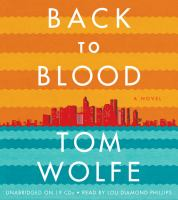 Cover image for Back to blood