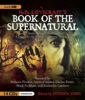 Cover image for H.P. Lovecraft's book of the supernatural 20 classics of the macabre, chosen by the master of horror himself