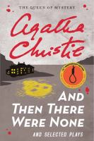 Cover image for And then there were none and selected plays