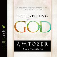 Cover image for Delighting in god