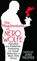 Cover image for The misadventures of Nero Wolfe [large print] : parodies and pastiches featuring the great detective of West 35th Street