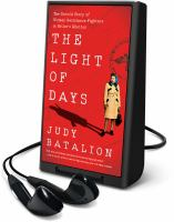 Cover image for THE LIGHT OF DAYS [Playaway]