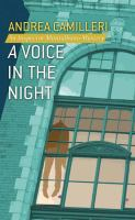 Cover image for A voice in the night. bk. 20 [large print] : Inspector Montalbano series