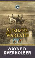 Cover image for Summer warpath [large print] : a Circle V Western
