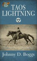 Cover image for Taos lightning [large print] : Circle V western series