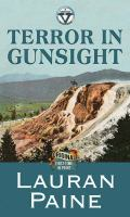 Cover image for Terror in gunsight [large print] : Circle V Western series