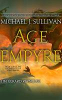 Cover image for Age of empyre. bk. 6 [sound recording CD] : Legends of the First Empire series