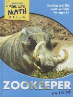 Imagen de portada para Zookeeper for the day : Real life math series
