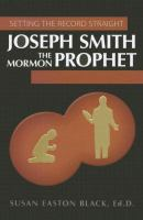 Cover image for Joseph Smith, the Mormon prophet