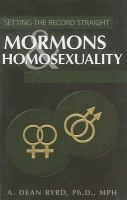 Cover image for Mormons & homosexuality