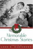 Imagen de portada para Memorable Christmas stories