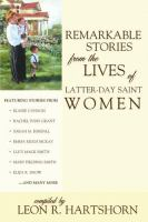 Cover image for Remarkable stories from the lives of Latter-day Saint women