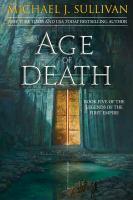 Imagen de portada para Age of death. bk. 5 : Legends of the First Empire series