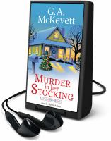 Cover image for Murder in her stocking. bk. 1 [Playaway] : Granny Reid mystery series