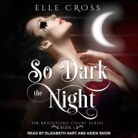 Cover image for So dark the night