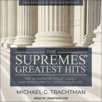 Cover image for The supremes' greatest hits, 2nd revised & updated edition the 44 supreme court cases that most directly affect your life