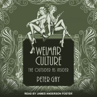 Cover image for Weimar culture the outsider as insider