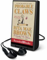 Cover image for Probable claws. bk. 27 [Playaway] : Mrs. Murphy mystery series