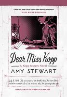 Imagen de portada para Dear miss kopp Kopp sisters series, book 6.