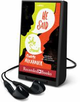 Cover image for He said, she said [Playaway]