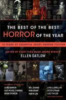 Cover image for The best of the best horror of the year [Playaway] : 10 years of essential short horror fiction