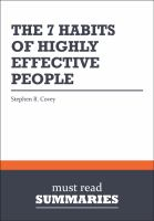 Cover image for The 7 habits of highly effective people - stephen r. covey