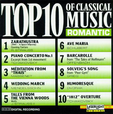 Cover image for Top 10 of classical music. Romantic