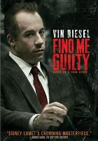 Cover image for Find me guilty