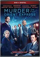 Cover image for Murder on the Orient Express [videorecording DVD] (Kenneth Branagh version)