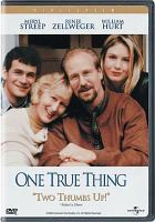 Cover image for One true thing