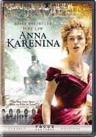 Cover image for Anna Karenina (Keira Knightley version)