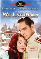 Cover image for We live again