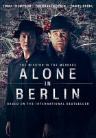 Cover image for Alone in Berlin [videorecording DVD]