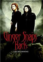 Cover image for Ginger snaps back the beginning