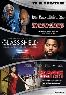 Cover image for In too deep [videorecording DVD] ; Glass shield ; Rage in Harlem.
