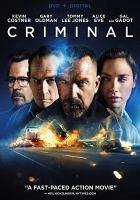 Cover image for Criminal [videorecording DVD] (Kevin Costner version)
