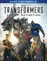 Cover image for Transformers. Age of extinction [videorecording Blu-ray]