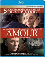 Cover image for Amour [videorecording Blu-ray]
