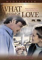 Cover image for What I did for love