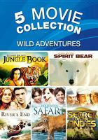 Cover image for Wild adventures 5 movie collection.