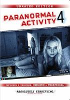 Cover image for Paranormal activity 4