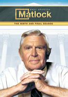 Imagen de portada para Matlock. Season 9, Complete the final season.