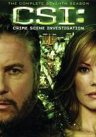 Cover image for CSI. Season 07, Disc 5 Crime scene investigation